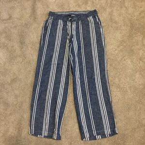 Old Navy blue and white stripe pants